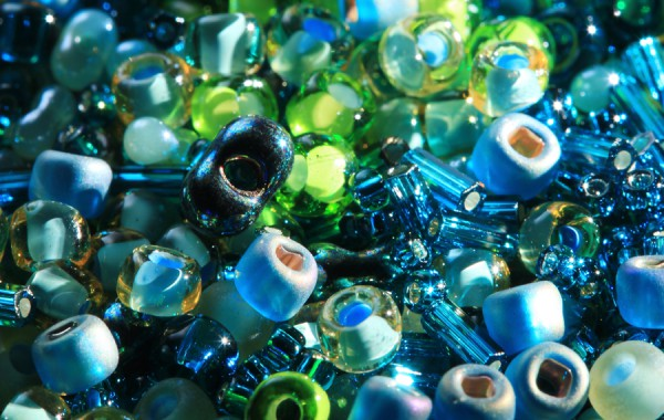 Glass Beads Green