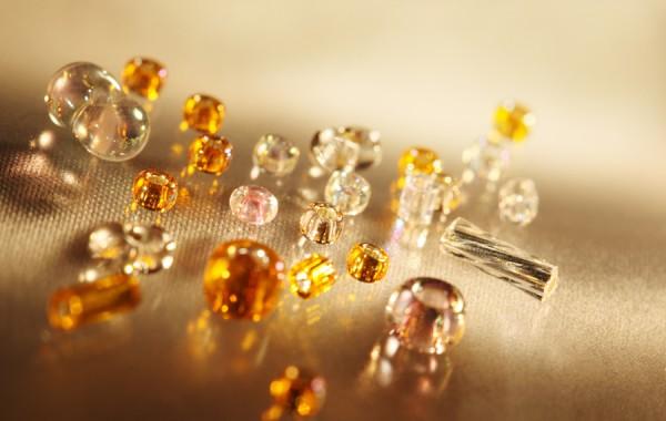 Glass Beads Amber
