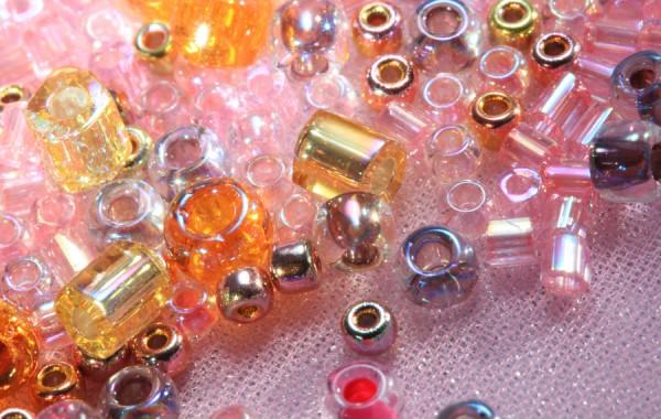 Glass Beads Pink