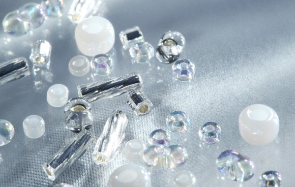 Glass Beads Silver